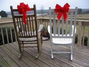 Christmas Rocking Chairs, Photo by Jewel Miller