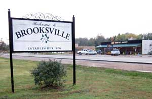 City of Brooksville Sign